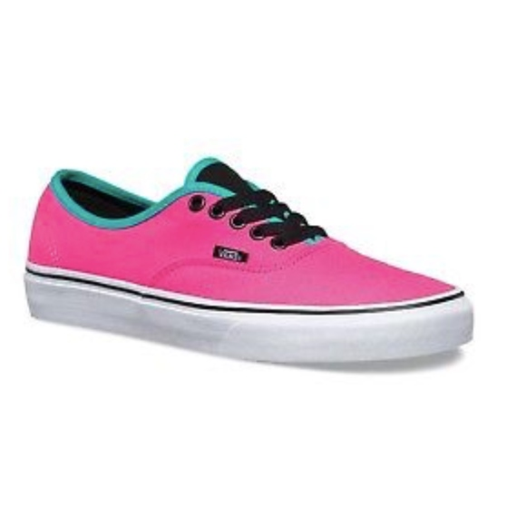 e95dd7616413 Vans Authentic Brite Neon Pink Black Shoes 🌹